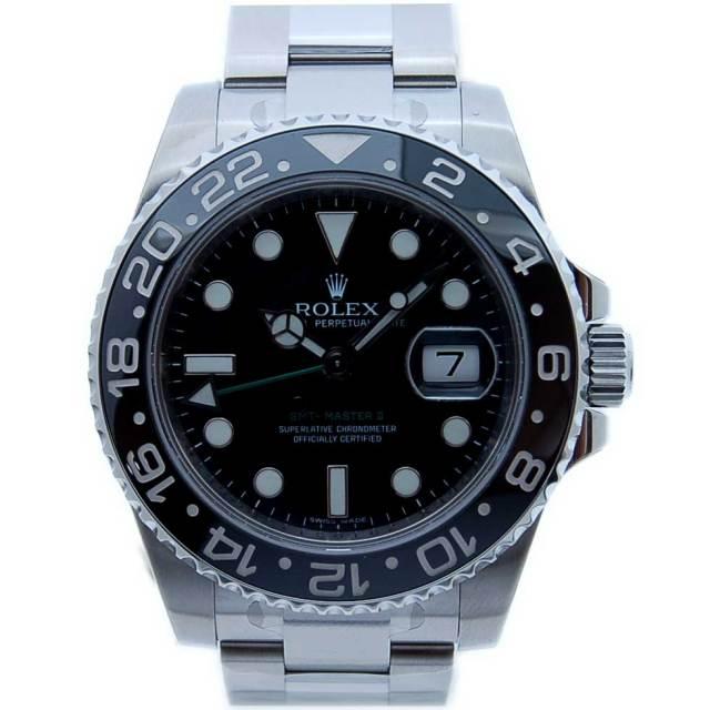 ロレックス ROLEX GMTマスター2 Ref.116710LN SS ブラック 新品