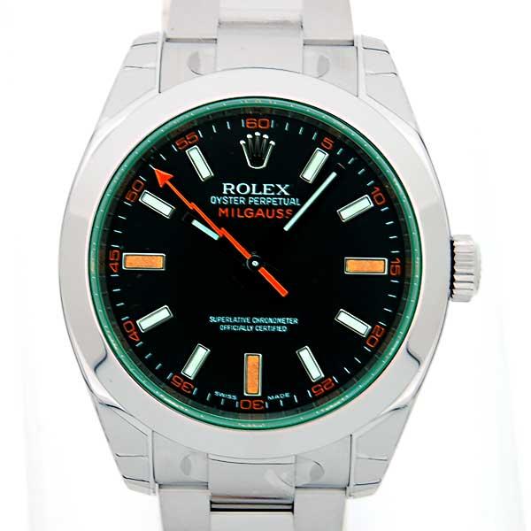 ロレックス ROLEX ミルガウス 116400GV 黒文字盤 グリーンガラス 新品