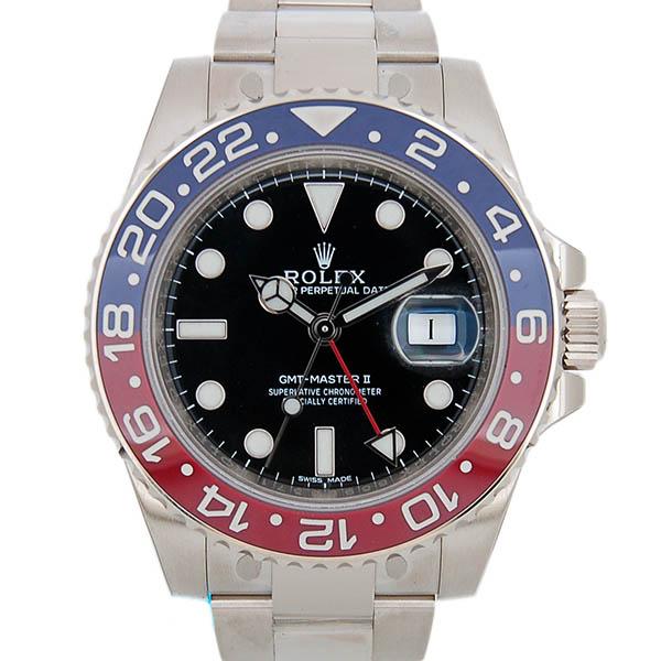 ロレックス ROLEX GMTマスター2 Ref.116719BLRO 18KWG 赤/青ベゼル ブラック 40mm 新品