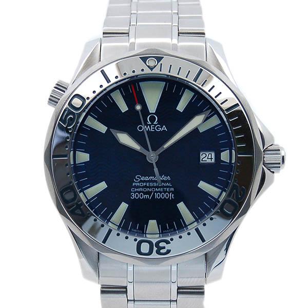 オメガ OMEGA シーマスター300 2255.80 SS 41mm 自動巻 ブルー USED 中古