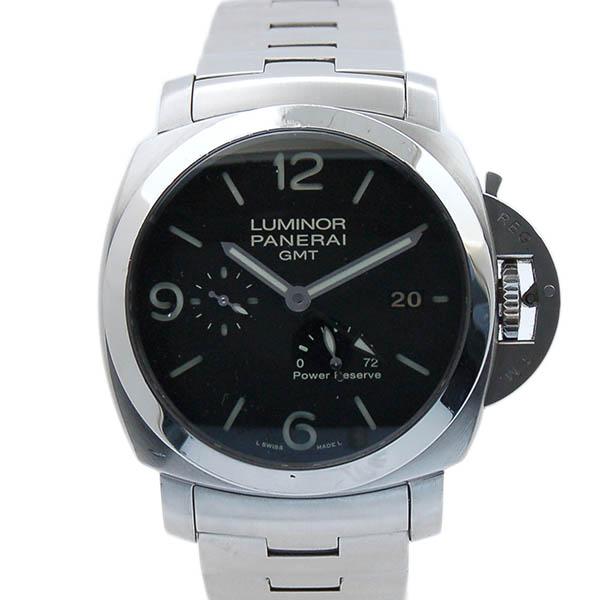 パネライ PANERAI ルミノール1950 3デイズ GMTパワーリザーブ PAM00347 SS 44mm ブラック 自動巻 Q番 USED 中古