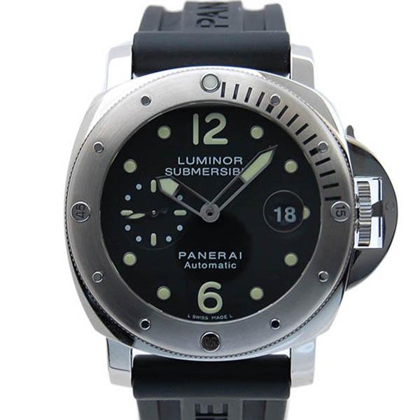 パネライ PANERAI サブマーシブル PAM00024 SS ブラック 44mm ラバーベルト 自動巻 M番 USED 中古