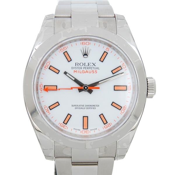 ロレックス ROLEX ミルガウス 116400 ホワイト イナズマ針 V番 未使用品