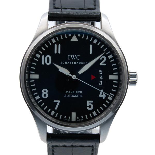 IWC マーク17 IW326501 ブラック SS 41mm 革 USED 中古