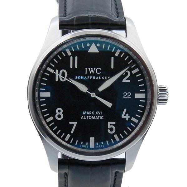 IWC インターナショナルウォッチカンパニー マーク16 IW325501 SS ブラック 革ベルト 自動巻 USED 中古