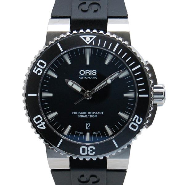 オリス ORIS アクイス デイト 733 7653 4154R SS ブラック ラバー 未使用