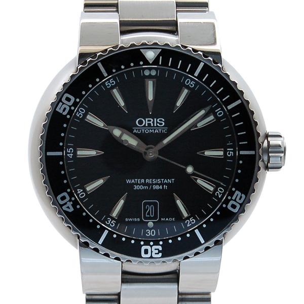 オリス ORIS ダイバーズデイト 733 7533 8454 SS ブラック USED 中古