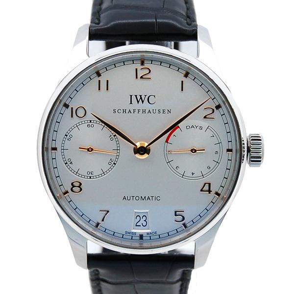 IWC ポルトギーゼ オートマティック 7デイズ IW500114 シルバー SS 革ベルト USED 中古