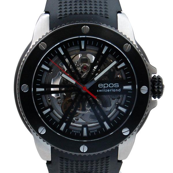 エポス EPOS スポーティブ 3389SKBBBKR スケルトン 自動巻 未使用品