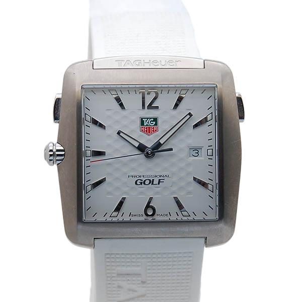 タグホイヤー TAG HEUER スポーツ ゴルフウォッチ タイガーウッズエディション WAE1113.FT6008 ホワイト ラバーベルト クォーツ USED 中古