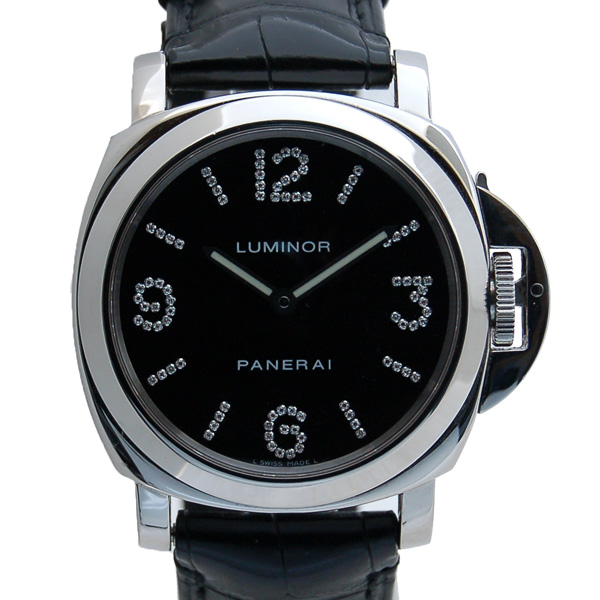 パネライ PANERAI ルミノールベース ダイヤモンドコレクション PAM00130 44mm 世界100本限定 USED 中古