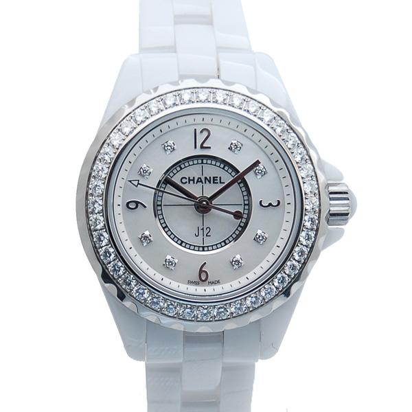 シャネル CHANEL J12 H2572 ダイヤモンド 29mm ホワイト 未使用品