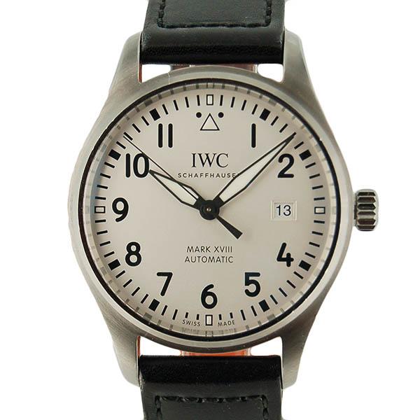 IWC パイロットウォッチ マーク18 IW327002 シルバー 革 USED 中古