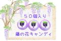 【4〜5月の季節のお菓子に】藤の花キャンディ 50個入り