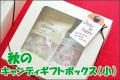 【コスモスと紅白うさぎ各15個入り】秋のキャンディギフトボックス(小)