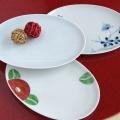 吉村陶苑(陶房青) 楕円皿3柄