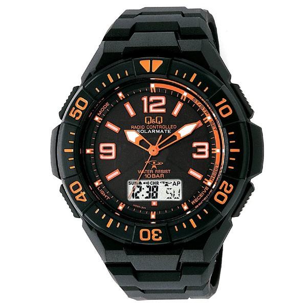 CITIZEN Q&Q 電波ソーラー腕時計 SOLARMATE MD06-315