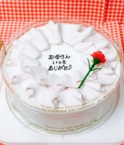 限定母の日クリームホールケーキ (卵、乳、小麦アレルギー対応)