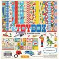 【スクラップブッキング ページキット 12インチ】12x12 carta bella paper -toy box collection kit(トイボックス コレクションキット)