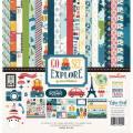 【スクラップブッキング ページキット 12インチ】12x12 echo park paper - go see explore collection kit(ゴーシーエクスプロア コレクションキット)