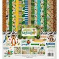 【スクラップブッキング ページキット 12インチ】12x12 echo park paper - jungle safari collection kit(ジャングルサファリ コレクションキット)