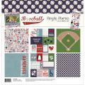 【スクラップブッキング ページキット 12インチ】12x12 simple stories - simple sets collection kit - baseball(野球:ベースボール)