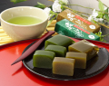 宇治茶と一口京ようかんセット「風呂敷包み」