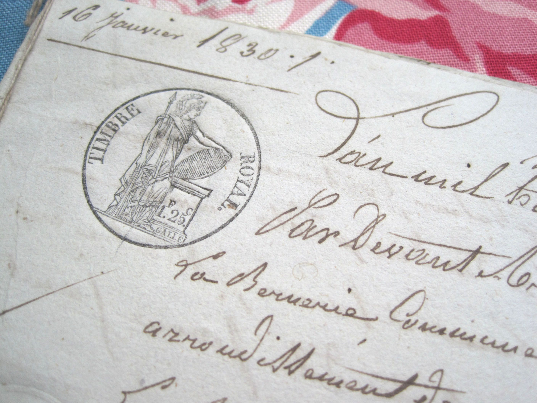 フランスアンティーク マニュスクリ 1830年