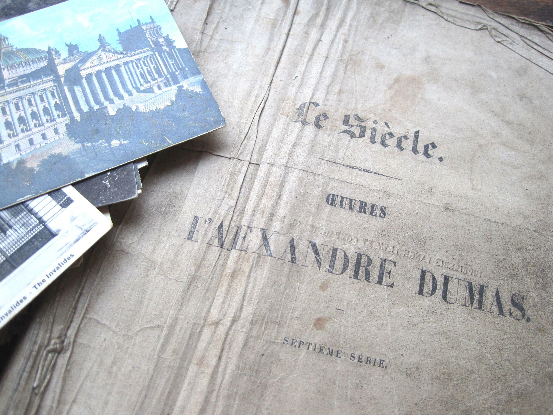 フランスアンティーク 古書 JOSEPH BALSAMO 1850年