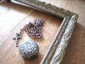 フランスアンティーク 枯れたゴールドフレーム レクタングル