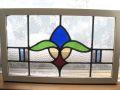 イギリスアンティーク お花のステンドグラス 1920年