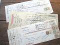 フランスアンティーク 印紙付き小切手3p A 1930年代