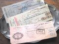 フランスアンティーク 印紙付き小切手3p B 1930年代