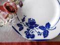 フランスアンティーク ディゴワン&サルグミンヌ花柄プレート 青バラ MONTAUBAN