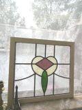 イギリスアンティーク お花のステンドグラス 1920年代