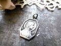 フランスアンティーク 聖母マリアメダイ 8角形