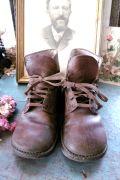 フランスアンティーク 子供の革靴 ブラウン 18,5cm