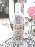 フランスアンティーク シャビーなラベルのガラスボトル