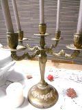 フランスアンティーク 華やかなキャンドルスタンド 5灯