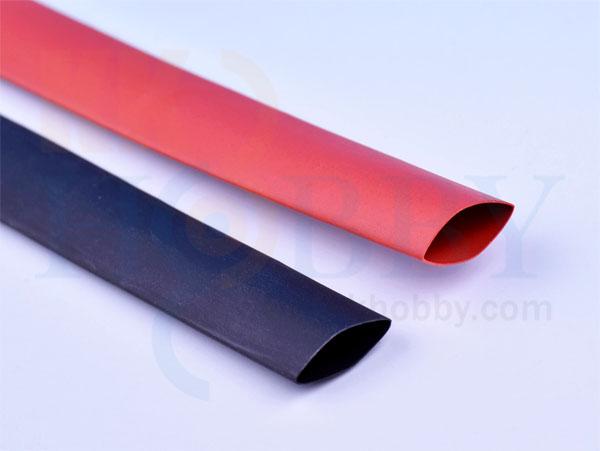 シュリンクチューブ 10mm(赤、黒 各50cm)
