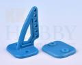 カラー三角ホーン(高さ27mm:6穴 ブルー)4個入