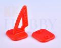 カラー三角ホーン(高さ27mm:6穴 レッド)4個入