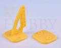 カラー三角ホーン(高さ27mm:6穴 イエロー)4個入