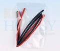 シュリンクチューブ 4mm(赤、黒 各50cm)