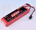 【四角型】受信機用リポバッテリー KKHOBBY 7.4V 2500mA
