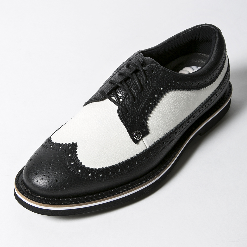 G/FORE MEN'S Golf Shoes WINGTIP BLACK & WHITE