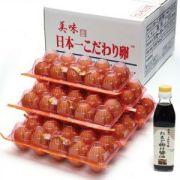 日本一こだわり卵60個(6パック)+たまご掛け醤油300ml.セット