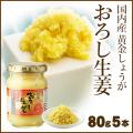 国内産黄金しょうが使用 おろし生姜80g×5本【まとめ買い】