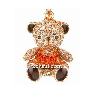 テディベア ペンダント&ストラップ Teddy-04OR 双子(妹) オレンジ
