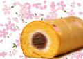 桜餅ロールケーキ スイーツ